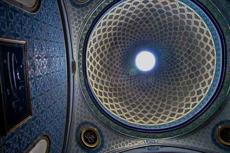 在圆顶里面的Topkapi宫殿 库存照片