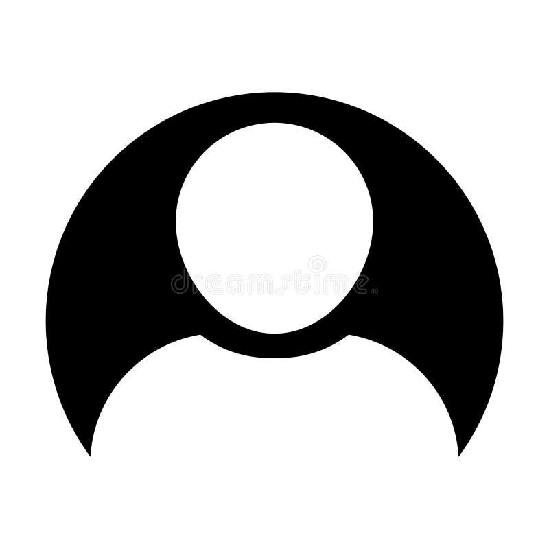 在圈子平的颜色纵的沟纹图表的具体化象传染媒介男性用户人外形标志 库存例证