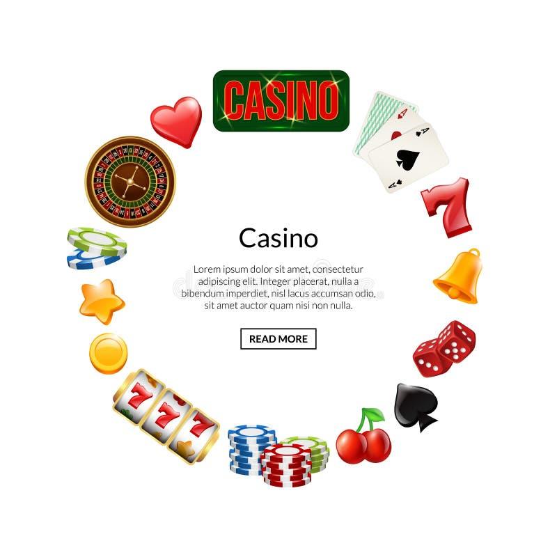 在圈子的传染媒介现实赌博娱乐场赌博与文本例证的地方 皇族释放例证