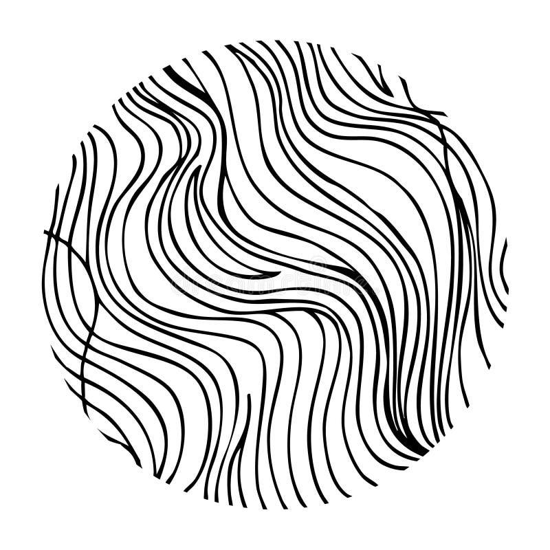 在圈子的手拉的波浪 库存例证