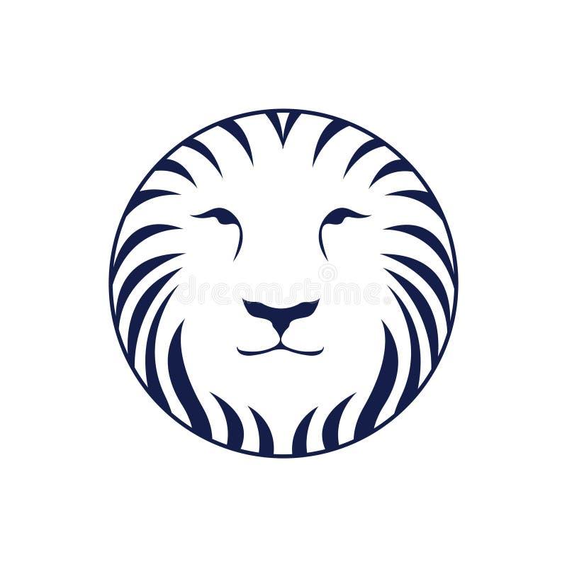 在圈子的狮子 库存图片