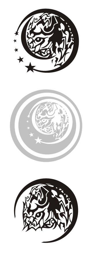 在圈子的部族马标志 库存例证