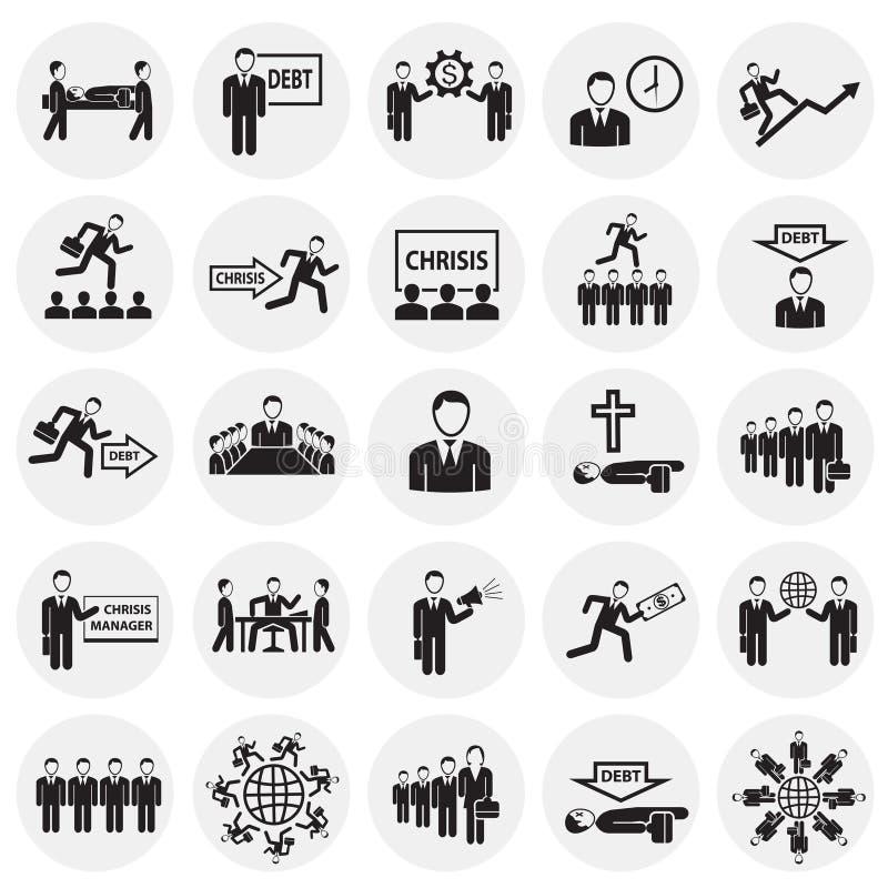 在圈子背景设置的企业生命力 向量例证