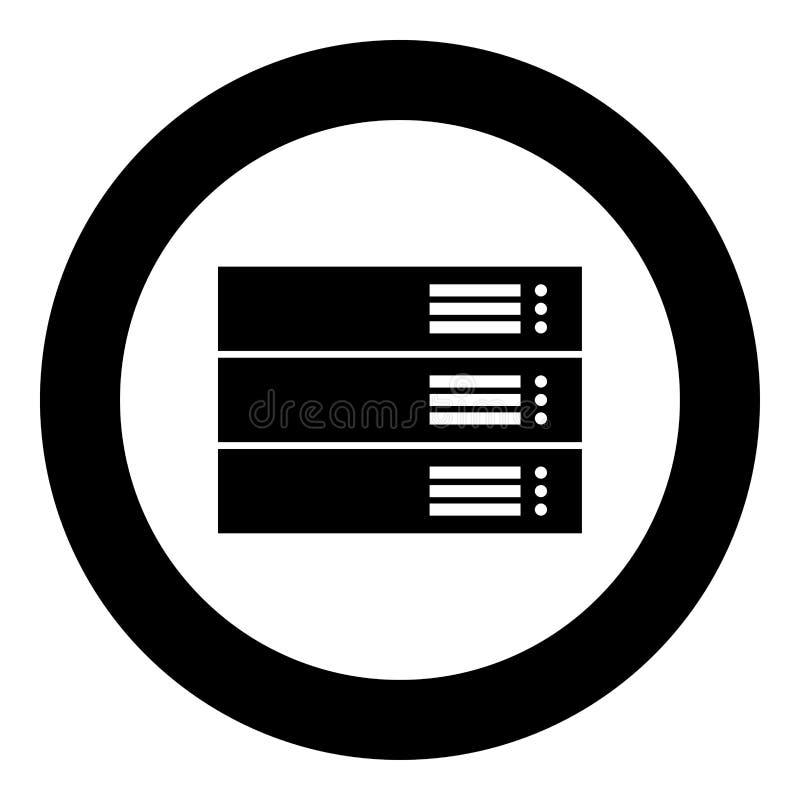 在圈子被隔绝的传染媒介例证的服务器黑象 向量例证