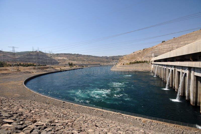 Ataturk水坝在土耳其 免版税库存图片