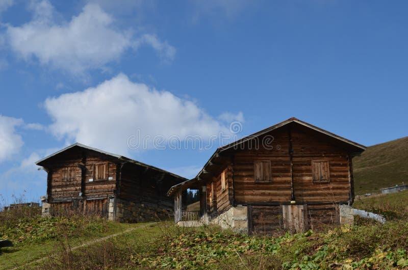 在土耳其的黑海山的村庄 免版税库存照片