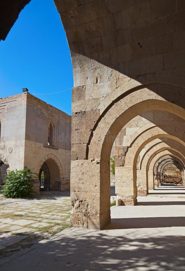 在土耳其的Sultanhani商队投宿的旅舍 免版税库存图片