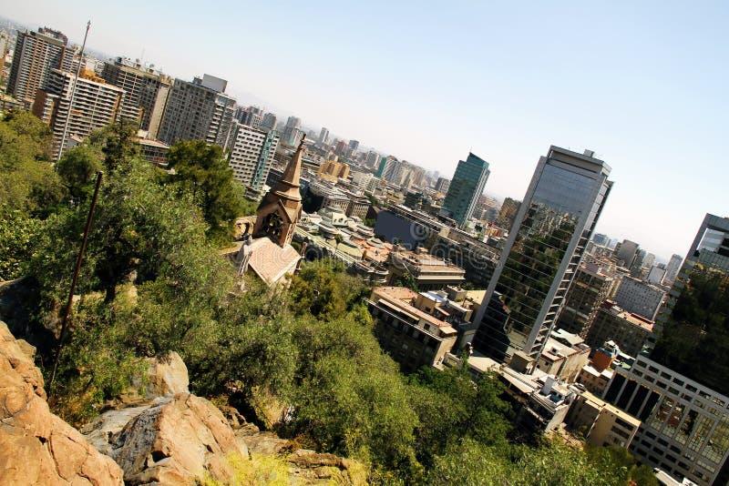 在圣地亚哥de智利的视图 库存图片