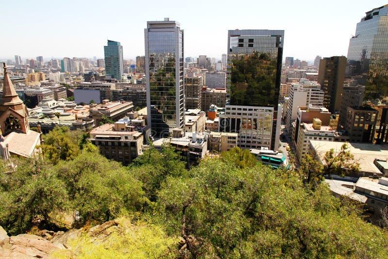 在圣地亚哥de智利的视图 免版税库存照片