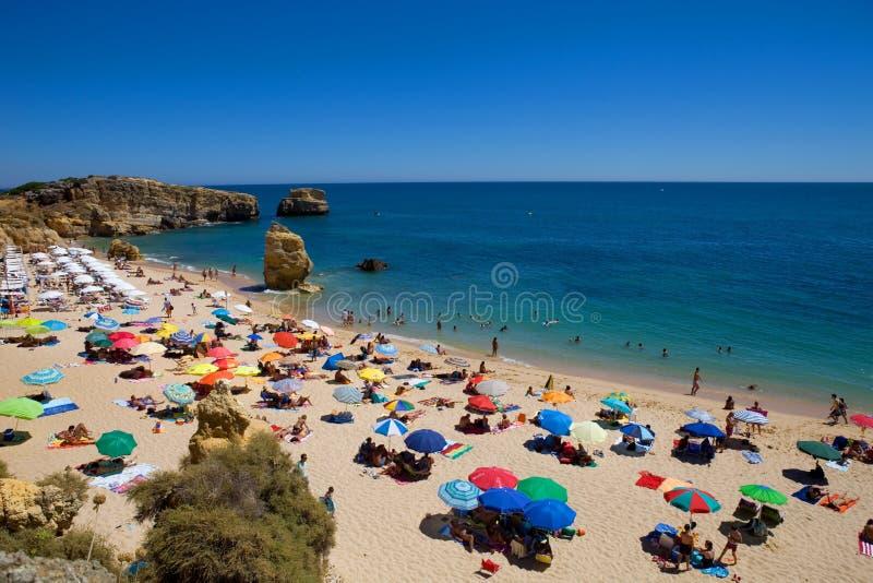 在圣地拉斐尔的美丽的海滩,在阿尔加威,葡萄牙 库存图片