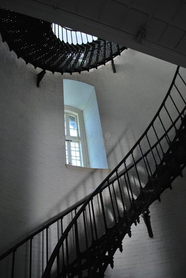 在圣奥斯丁灯塔里面 库存照片