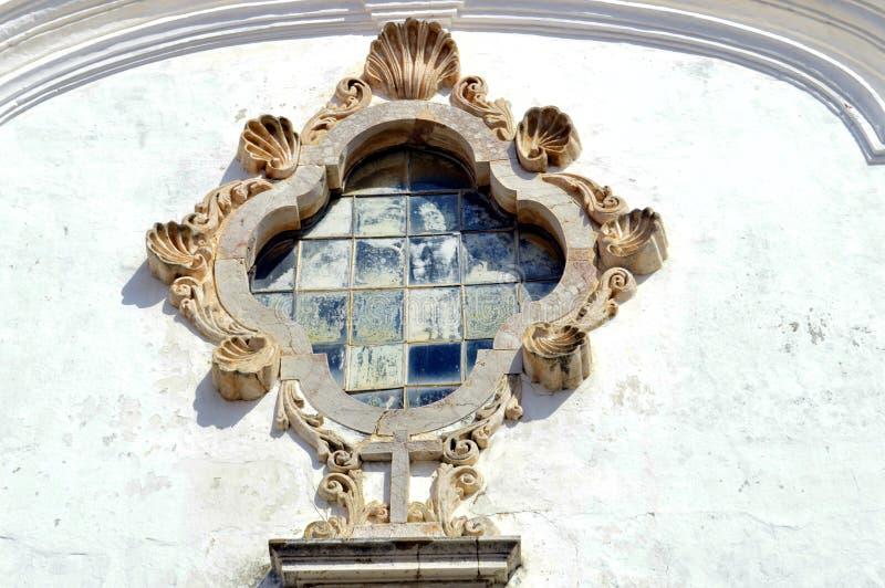 在圣安东尼的教会的华丽石制品在拉各斯葡萄牙 图库摄影