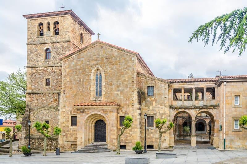 在圣尼古拉斯del巴里教会的看法在奥维耶多-西班牙 免版税库存照片