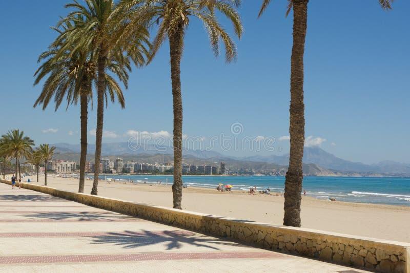 在圣徒霍安,科斯塔布朗卡,西班牙的海滩 库存照片