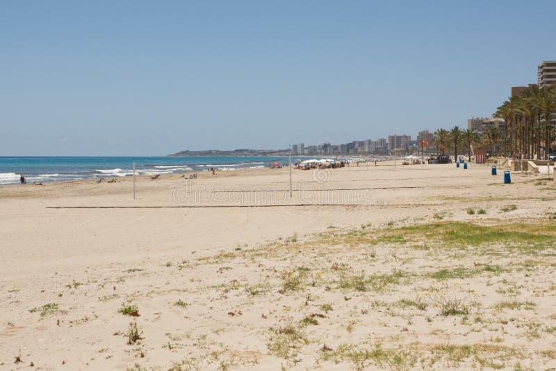 在圣徒霍安,科斯塔布朗卡,西班牙的海滩 免版税库存照片