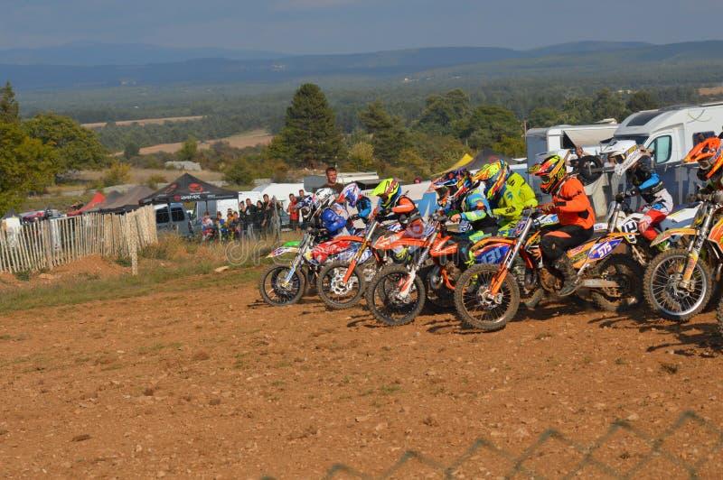 在圣徒Christol的摩托车越野赛种族在法国南部 图库摄影