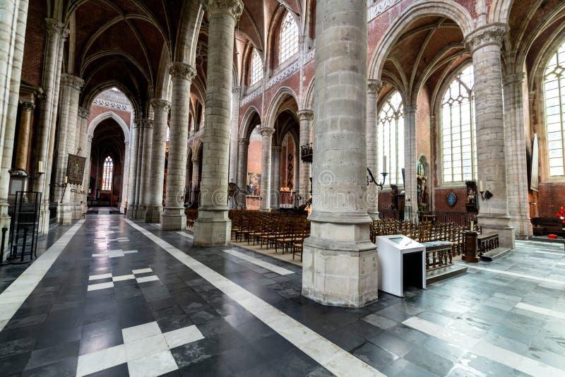 在圣徒Michaels教会里面在绅士的中心在Belgiu 免版税库存图片