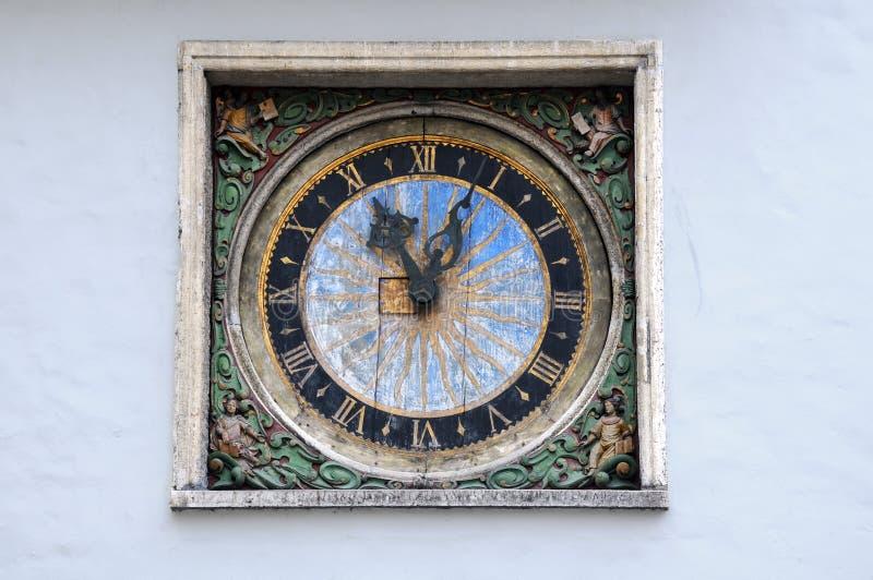 在圣灵的教会的时钟 免版税库存照片
