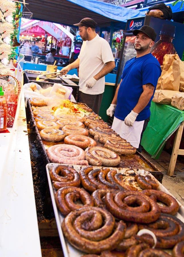 在圣热纳罗节日的街道食物在NYC 免版税图库摄影