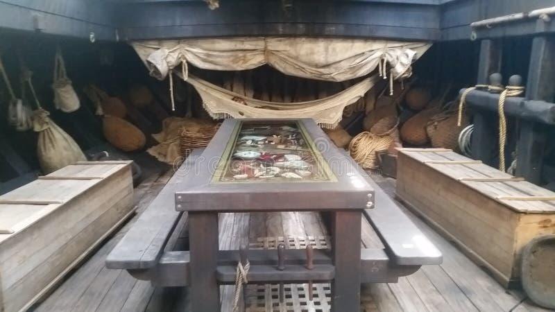 在圣玛丽亚复制品里面在丰沙尔,马德拉岛 图库摄影