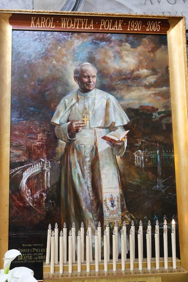 在圣玛丽大教堂-罗马少校的教皇绘画 库存照片