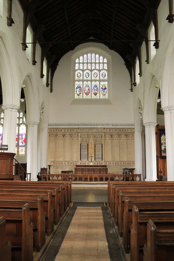 在圣玛丽的教会里面,邦吉 库存图片