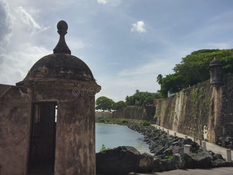 在圣胡安里面门  库存图片
