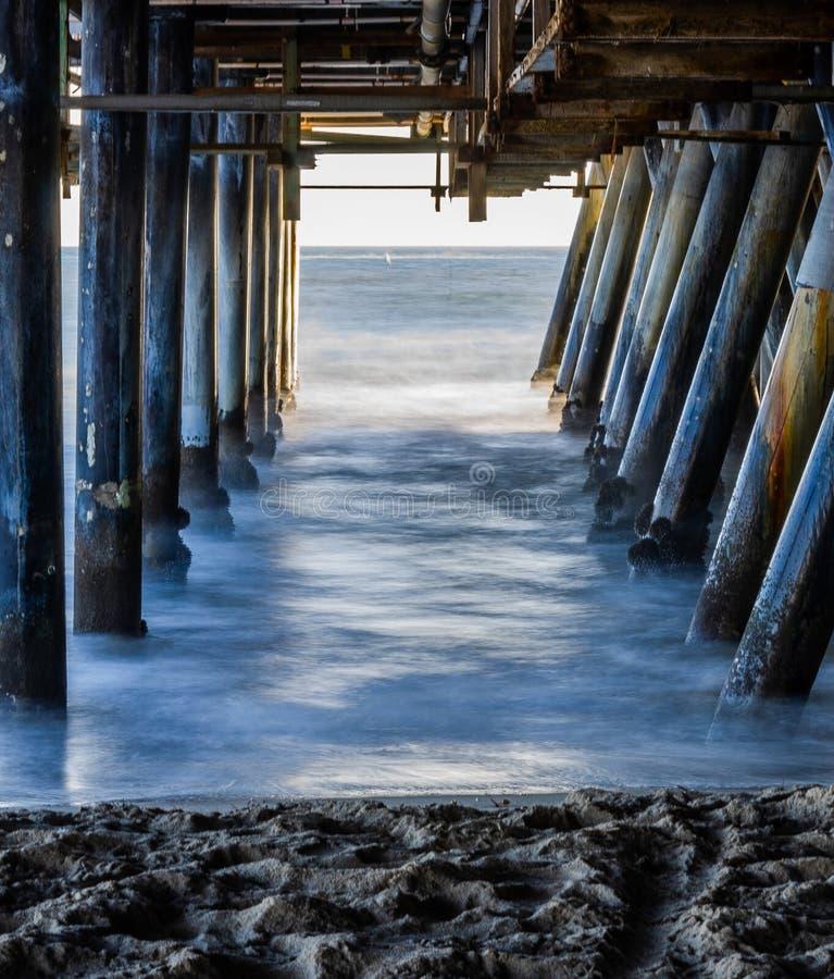 在圣莫尼卡码头califonia下 免版税图库摄影