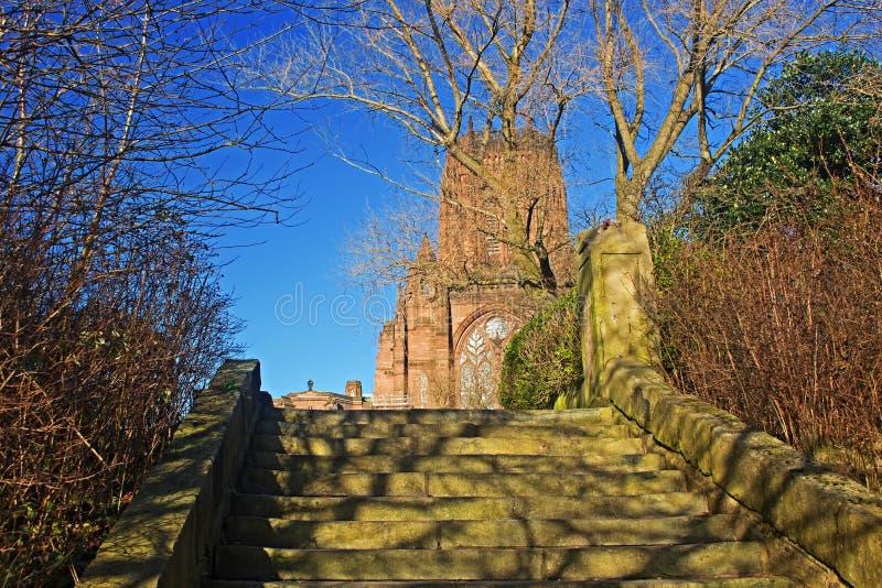 在圣詹姆斯的登上建造的利物浦大教堂在利物浦 库存照片