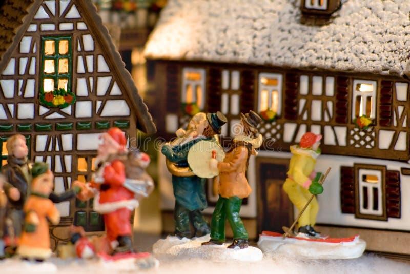 在圣诞前夕的神仙的礼物在奥地利 免版税库存照片