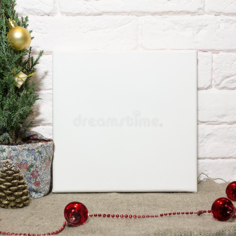 在圣诞节内部的大模型海报 免版税库存图片