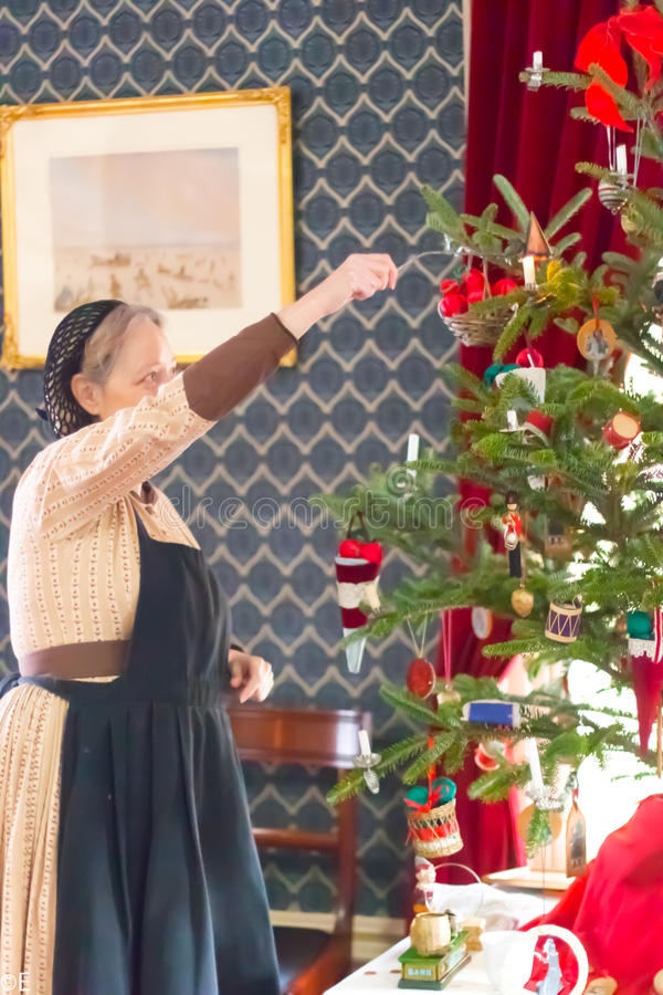 在圣诞节历史博物馆在高公园,多伦多,加拿大 库存图片