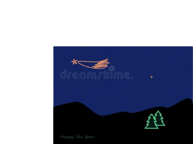 在圣诞节国家的彗星 库存图片