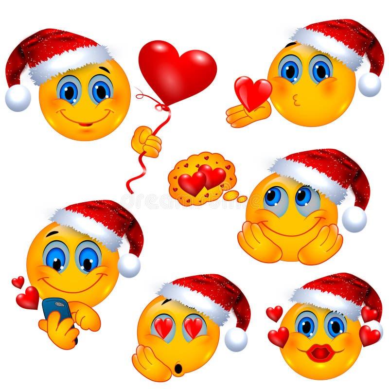 在圣诞节的爱历史 被隔绝的浪漫兴高采烈的面孔 皇族释放例证