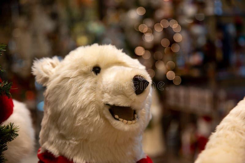 在圣诞节的玩具熊 库存照片