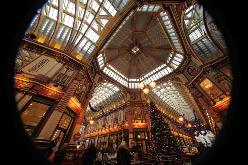 在圣诞节的Leadenhall市场 库存照片