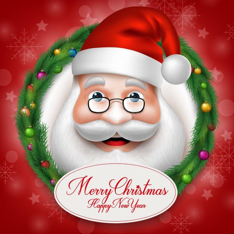 在圣诞节里面的3D现实圣诞老人头字符