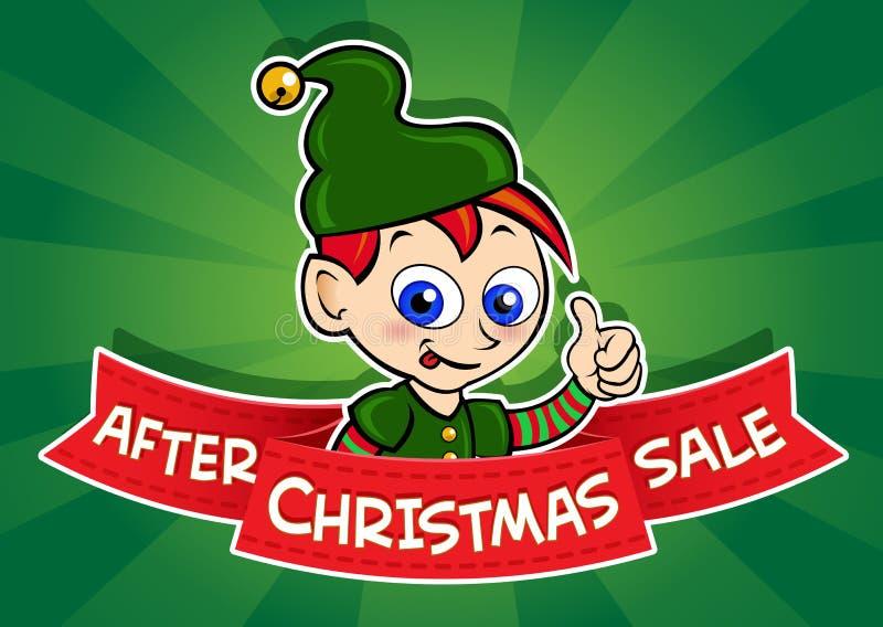 在圣诞节销售额横幅以后 库存例证