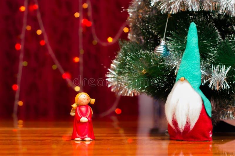 在圣诞节题材的图 免版税库存图片
