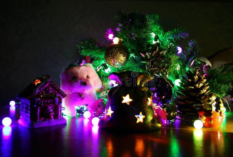 在圣诞节题材的构成 库存图片