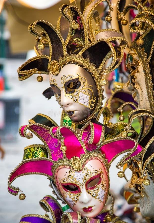 在圣马克` s正方形的狂欢节面具 库存图片