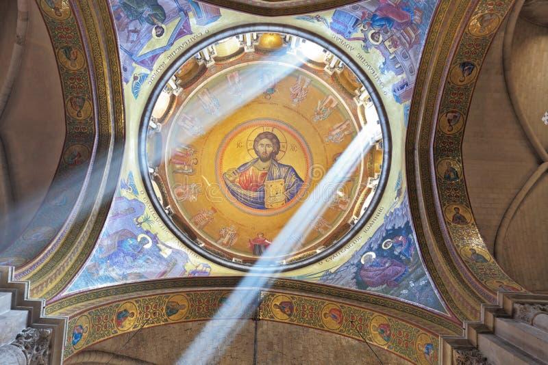 在基督救主的天花板图象 图库摄影