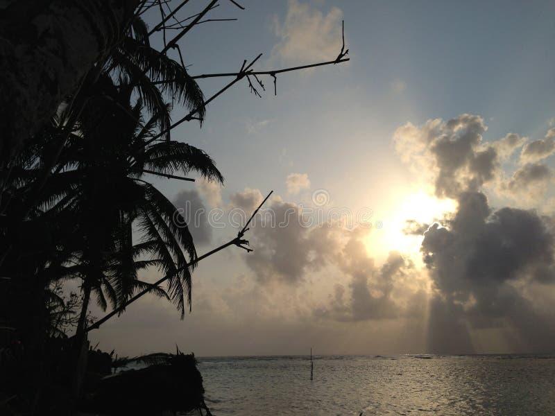 在圣blas海岛的日落 免版税库存图片