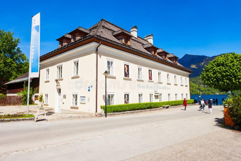 在圣Gilgen的Mozarthaus 免版税图库摄影