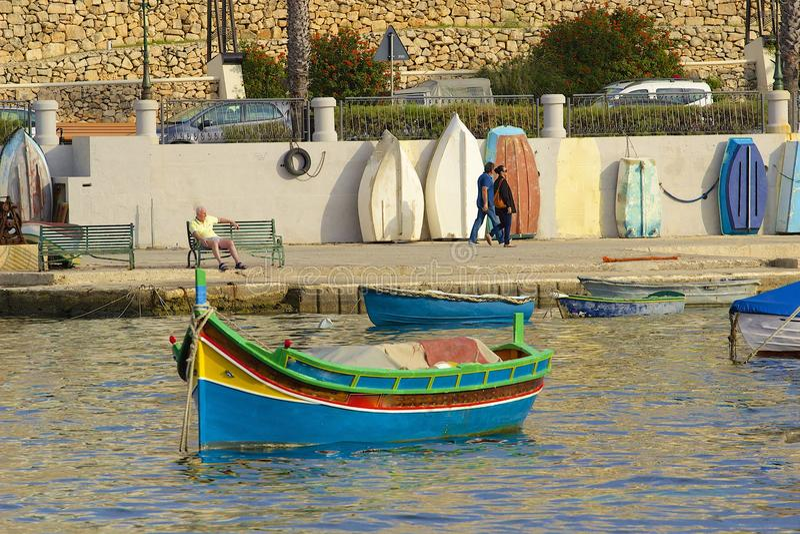 在圣Julians,马耳他的散步 库存照片