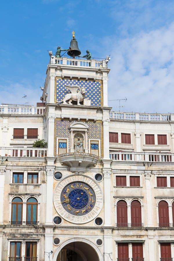 在圣Marco广场的天文学时钟威尼斯& x28的; Italy& x29; 免版税库存图片