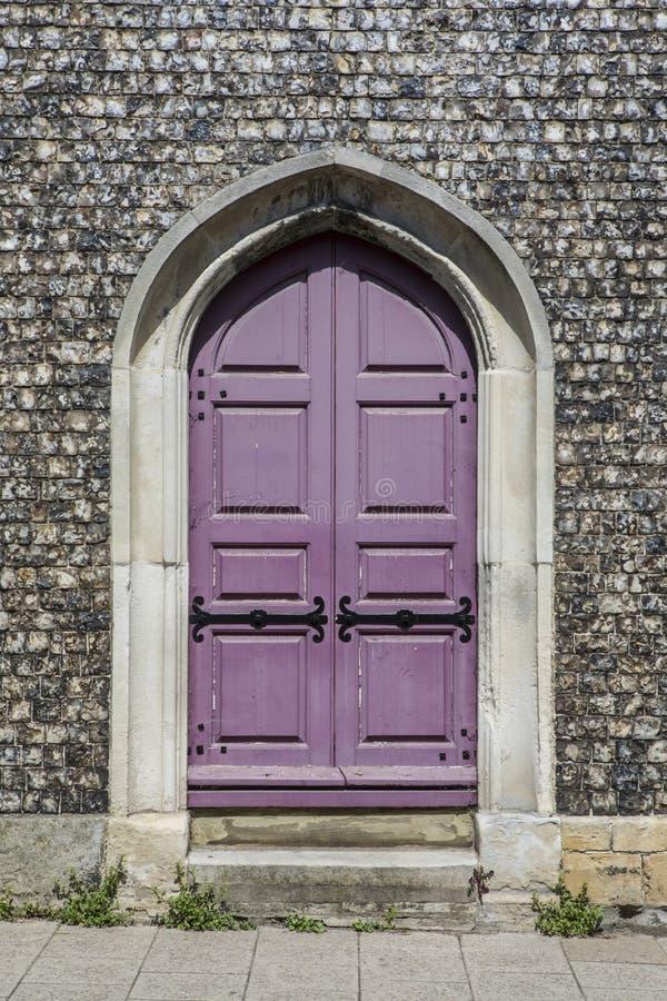 在圣Michaels教会的门道入口在刘易斯 免版税图库摄影