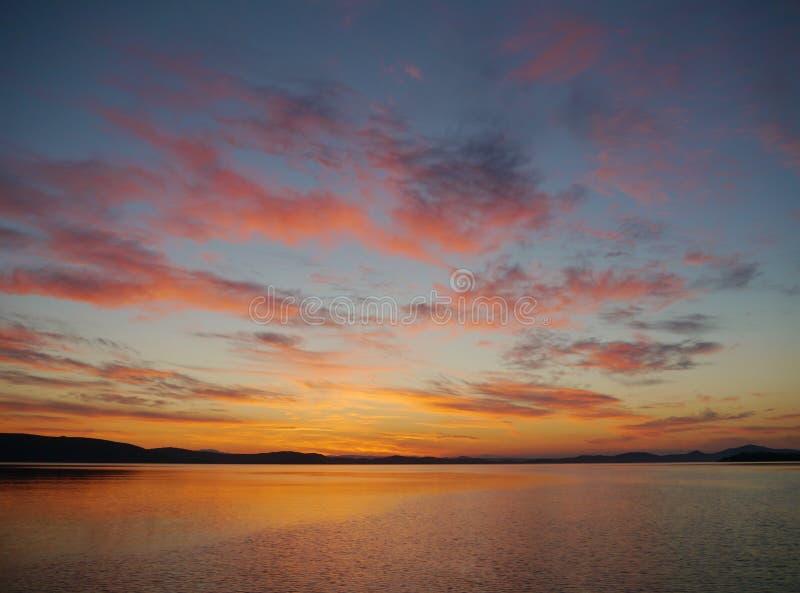 在地中海的日落 库存照片