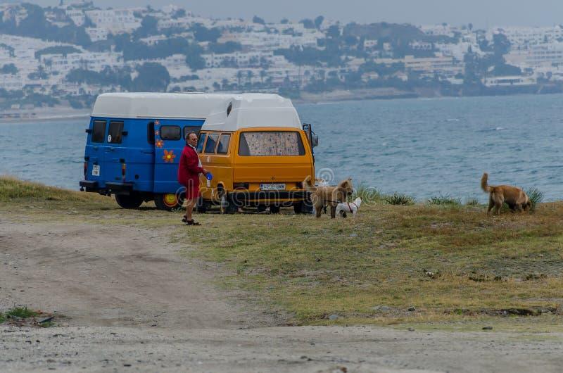 在地中海的海滩 库存照片