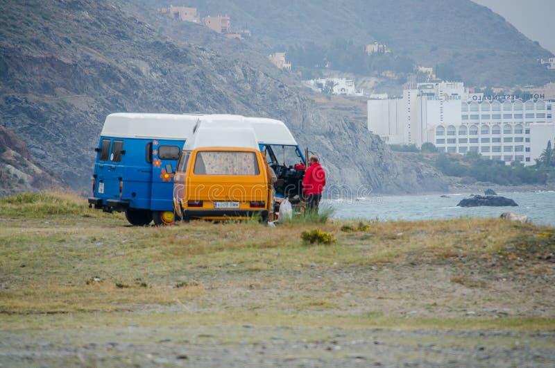 在地中海的海滩 免版税库存图片